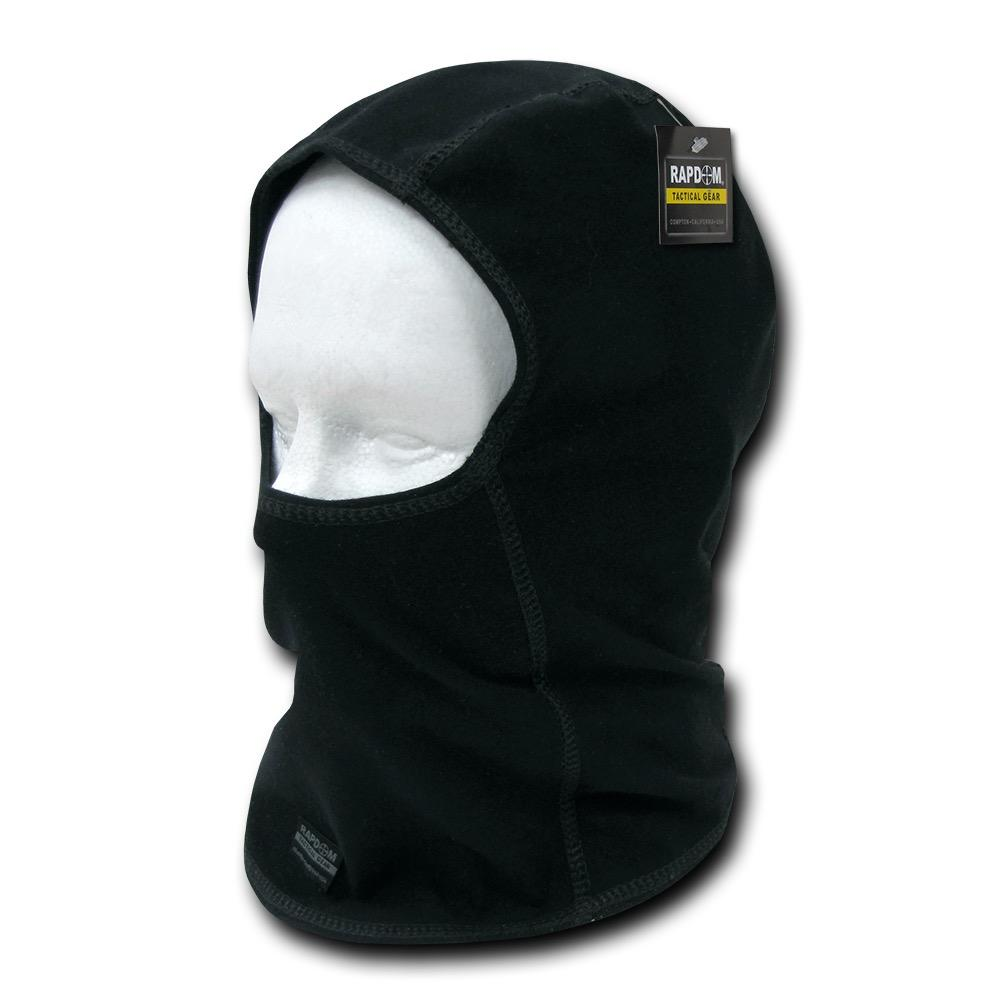 RAPDOM Full Face Mask Balaclava One Piece Tactical Washable Reusable Black