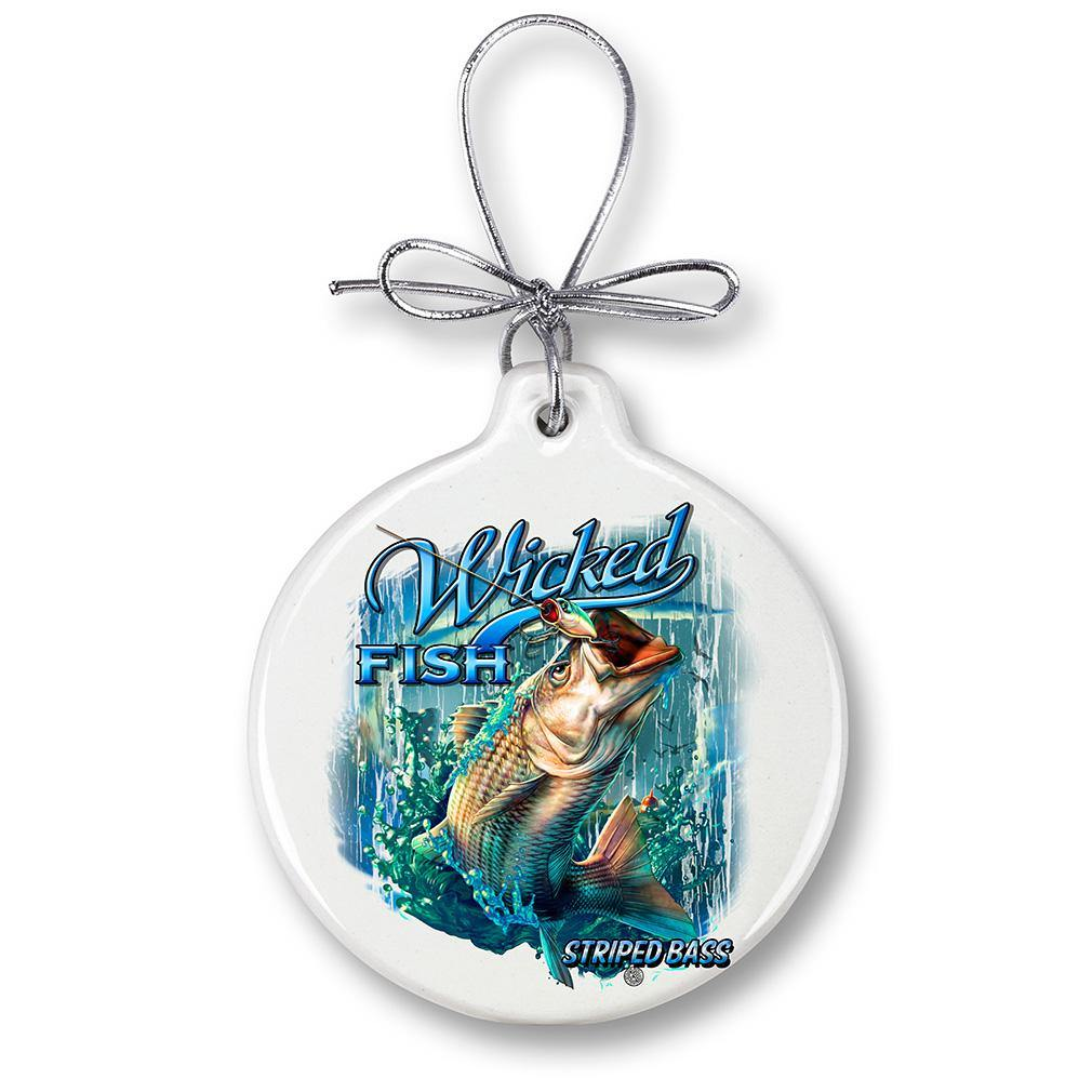 Striped Bass Fishing Christmas Tree Ornaments