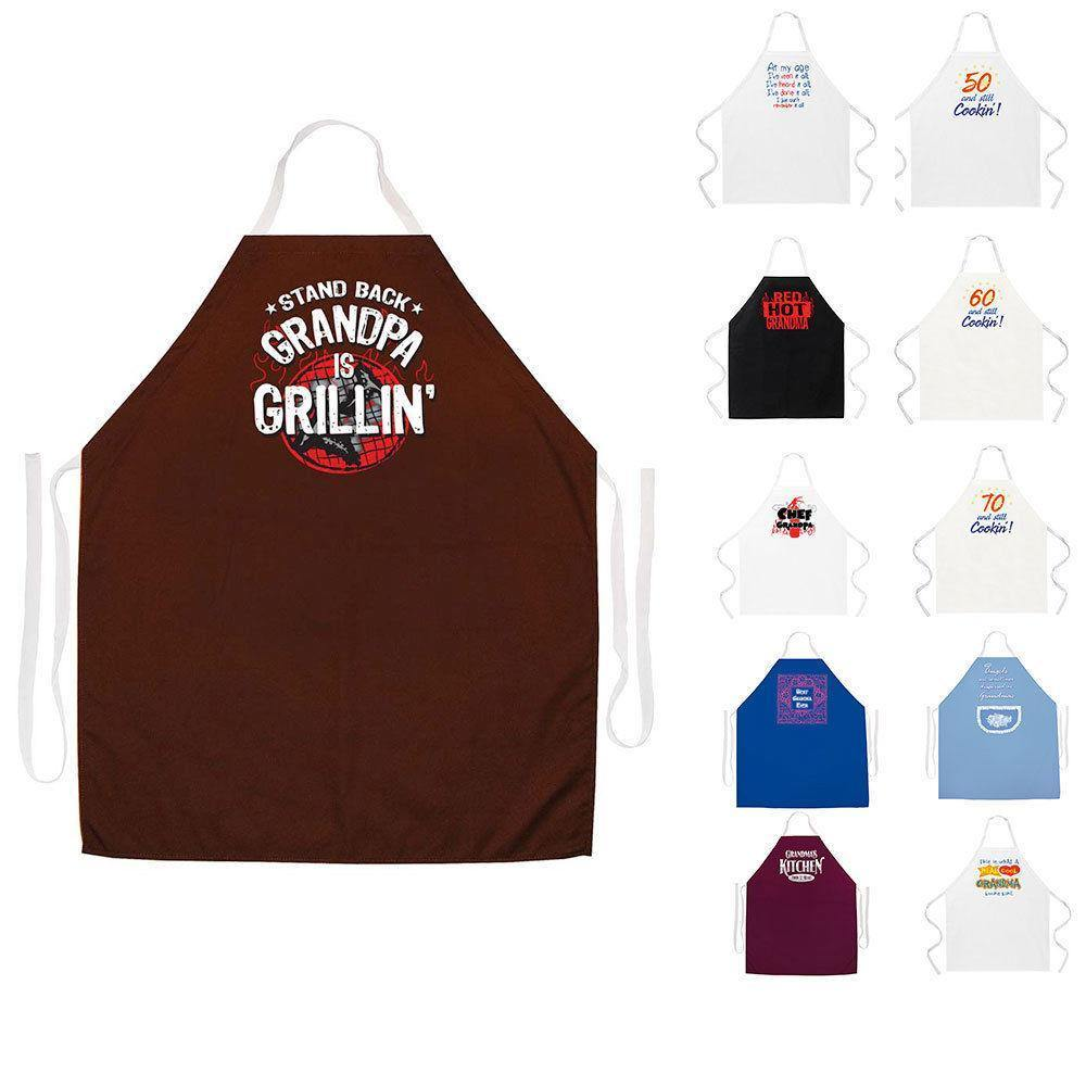 Attitude Aprons Fully Adjustable Stand Back Grandpa is Grillin Apron Brown Grandpa is Grillin Apron 2207