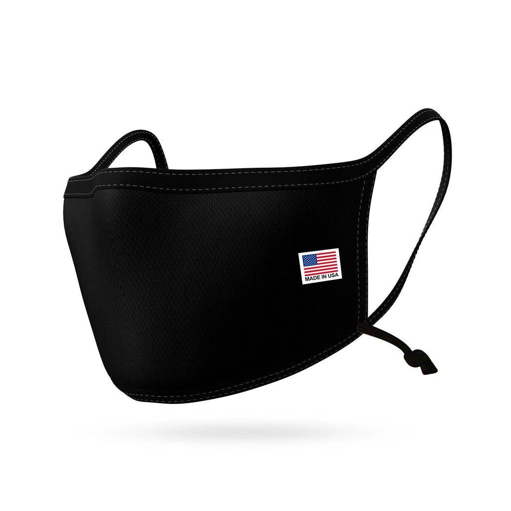 Made in USA Face Mask Adjustable Ear Filter Pocket Washable Reusable Double Layer Masks Cotton Cloth Blend