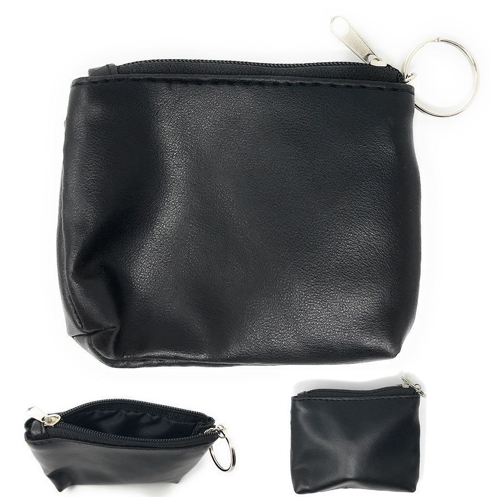7afee3347e08 Compact Coin Pouch Wallet Change Holder Purse Bag Insert With Keychain Size  4X3
