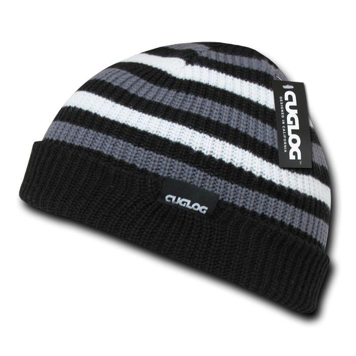 2ec930abd805b Cuglog Beanies Rasta Sailor Striped Knit 3 Tone Winter Skull Caps Hats Ski  Warm