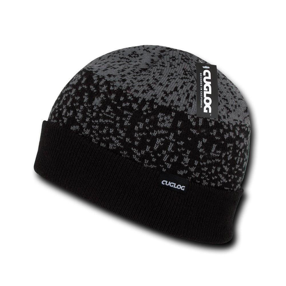 Cuglog Fuji Cuffed 3 Tone Digital Gradient Beanies Winter Caps Hats Ski