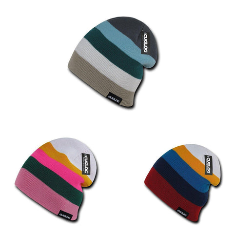 81d5b6df9c8 Cuglog Rushmore Colorful Colorful Stripped Beanies Winter Caps Hats
