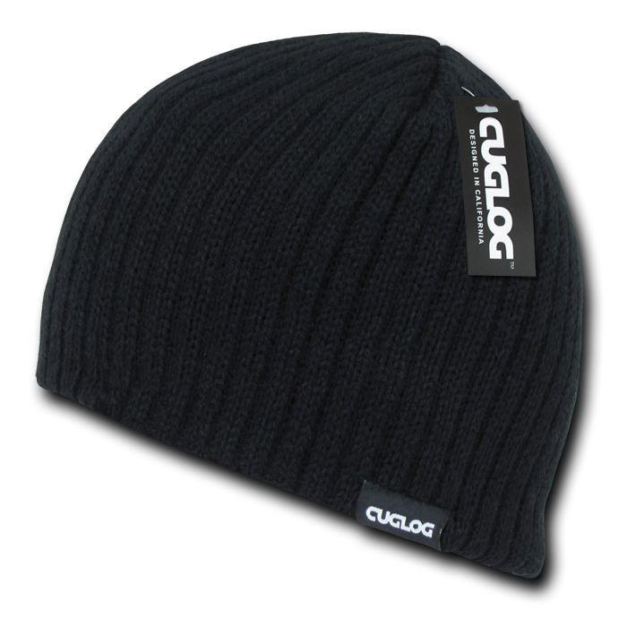 Cuglog Winter Double Lined Beanies Soft Feel Cable Knit Skull Caps Hats Unisex