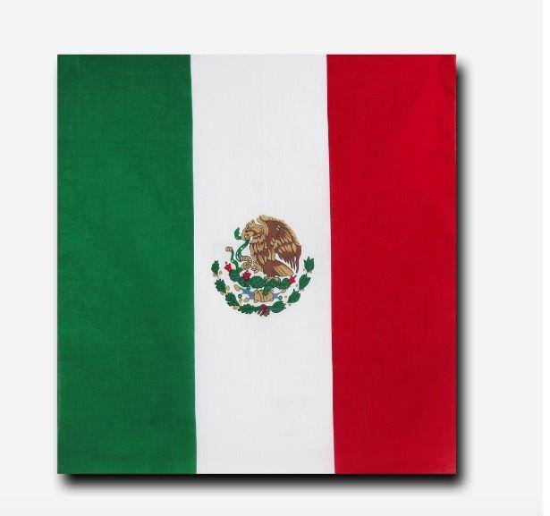 1 Dozen Decky Bandanas Mexico Flag Single Sided 100% Cotton Head Wrap Scarf