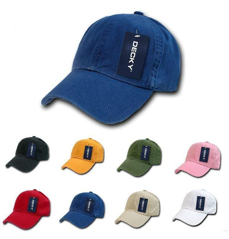 037b268dd41 Decky Blank Polo Dad Hats Caps Solid Plain Washed 8 Colors