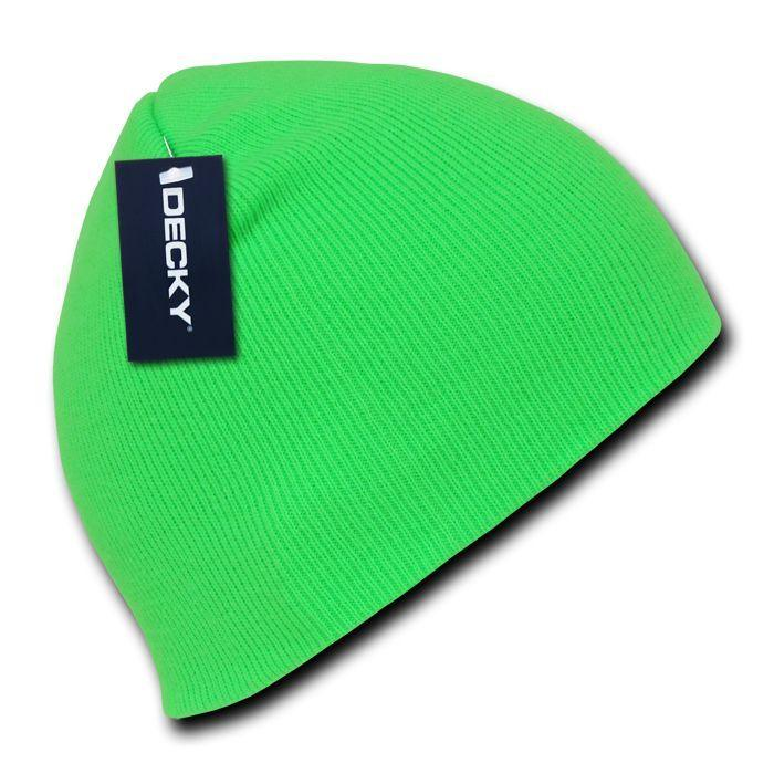 Decky Bright Neon Short Uncuff Beanies Caps Hats Knit Ski Skull Snowboard Winter