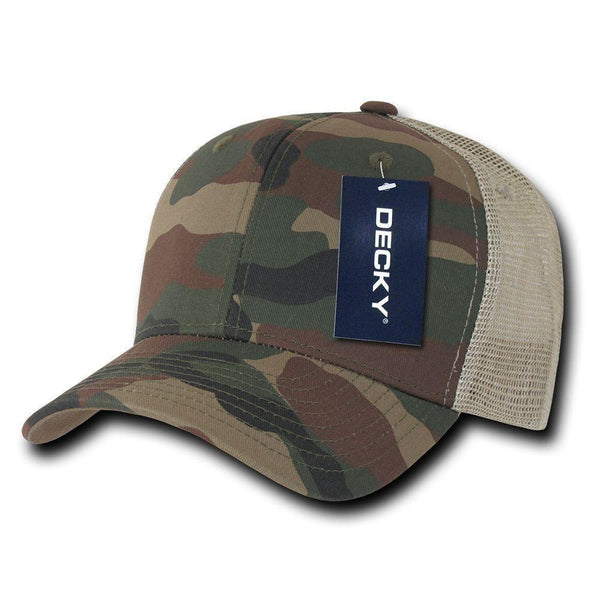 7d569f26be8 Decky Camouflage Curve Bill Constructed Trucker Hats Caps Snapback Cotton  Mesh