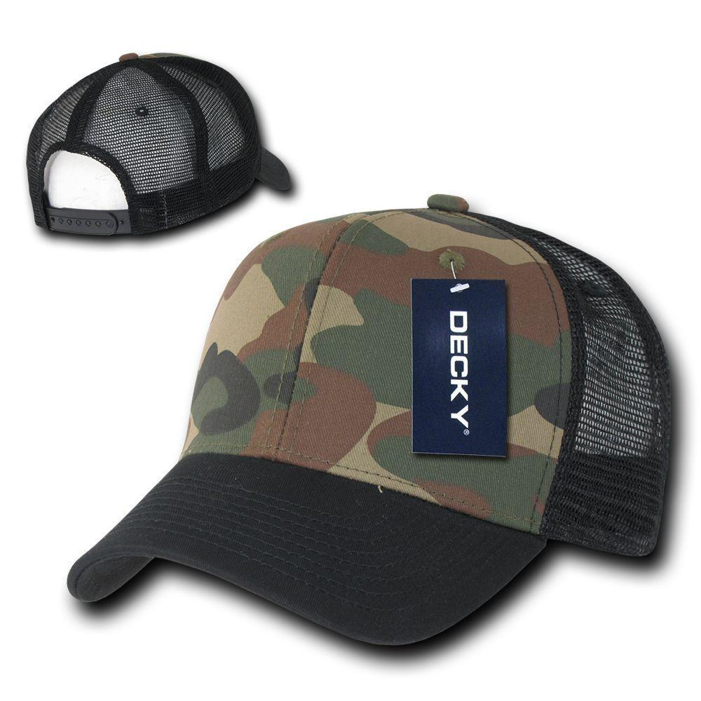 2bf320509b6 Decky Camouflage Curve Bill Constructed Trucker Hats Caps Snapback ...