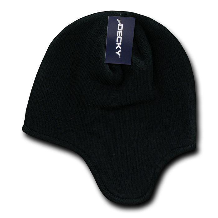 Decky Helmet Beanies Warm Winter Fleece-Lined Inside Ear Flap Ski Snow