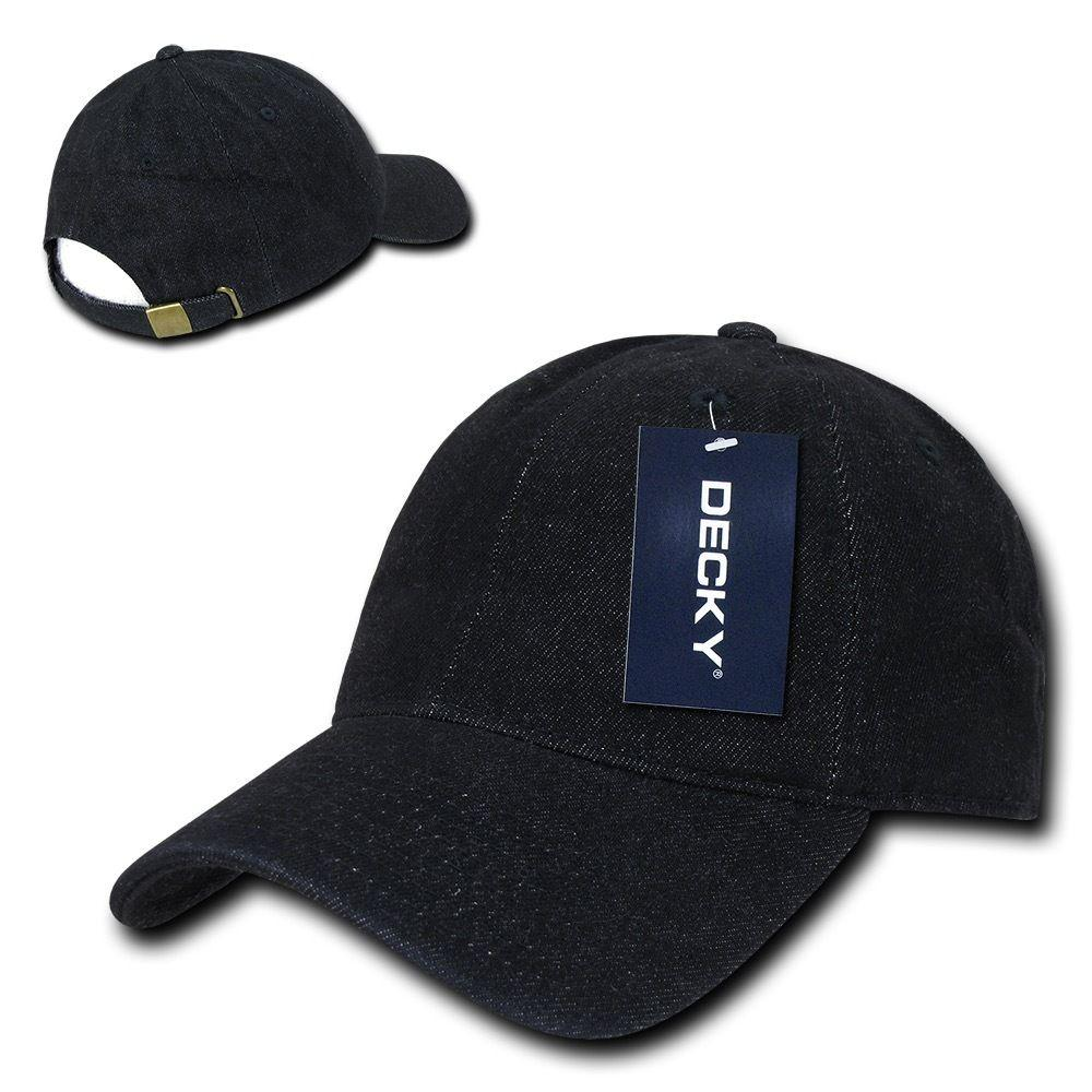Decky Relaxed Heavy Duty Denim Low Crown Caps Hats