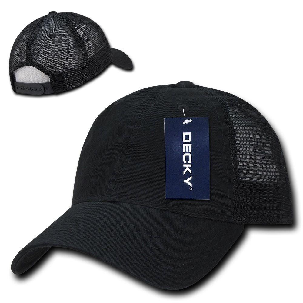 Decky Relaxed Trucker 6 Panel Pre Curved Bill Baseball Caps Hats