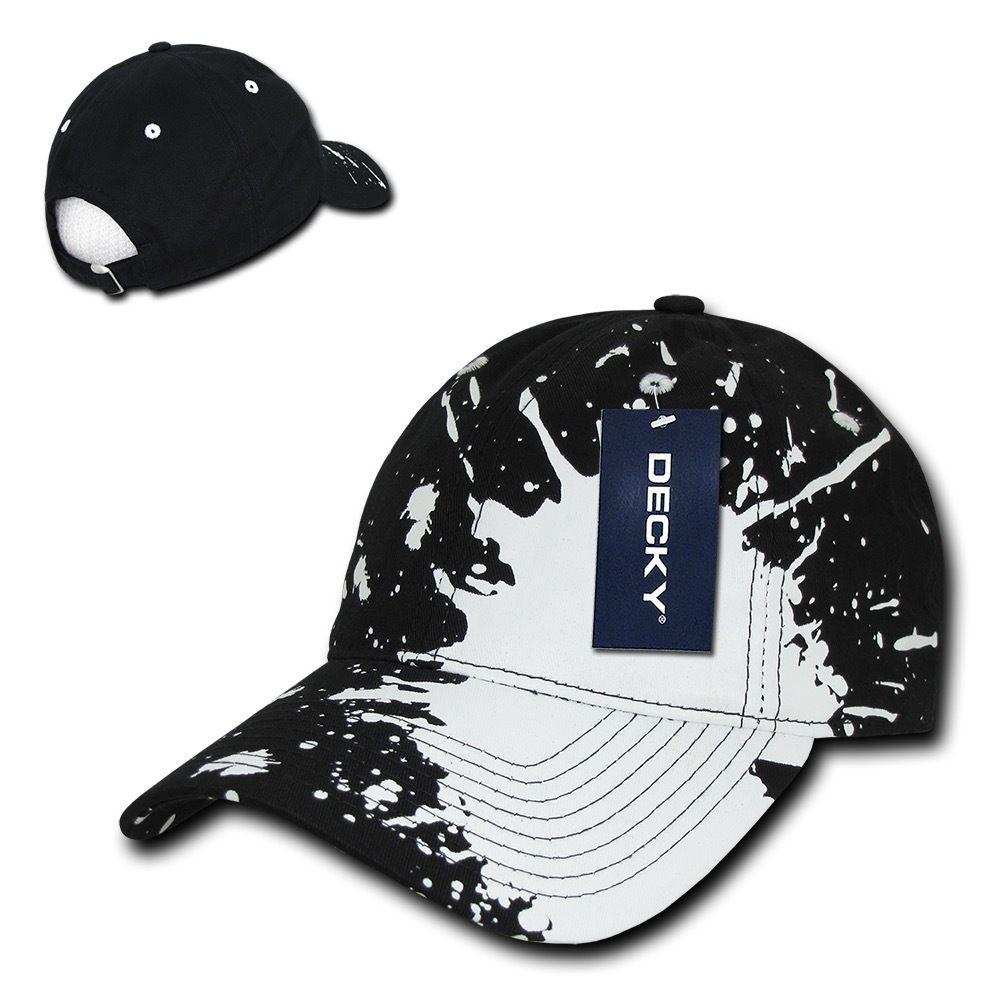 Decky Splat Paint Polo Cotton Sweatband Low Crown Dad Caps Hats