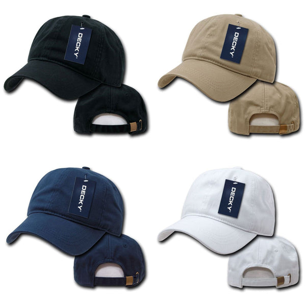 Decky Two Ply Polo Washed Heavy Cotton 6 Panel Dad Caps Hats 957a054ad8c9