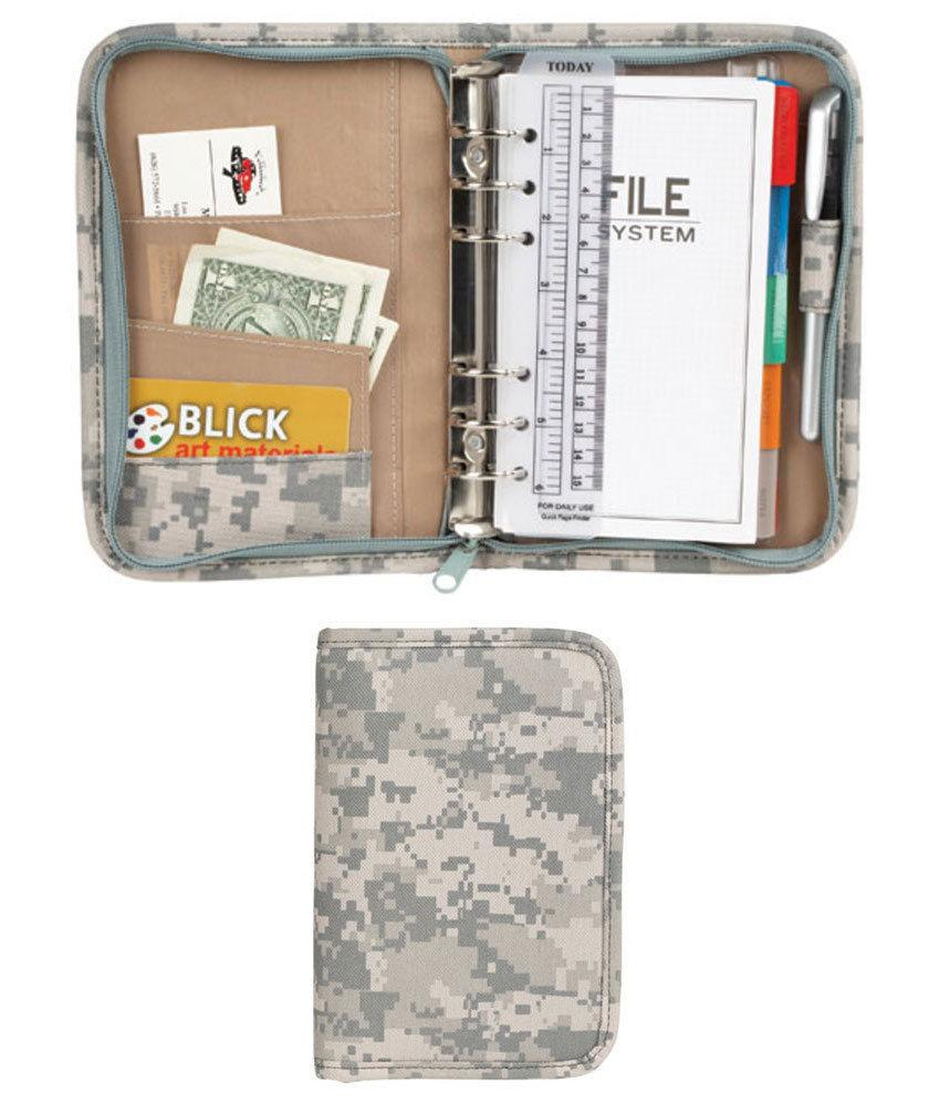 Camouflage Padfolio Organizer ID Holder Notepad Binder Business Office 5 Styles
