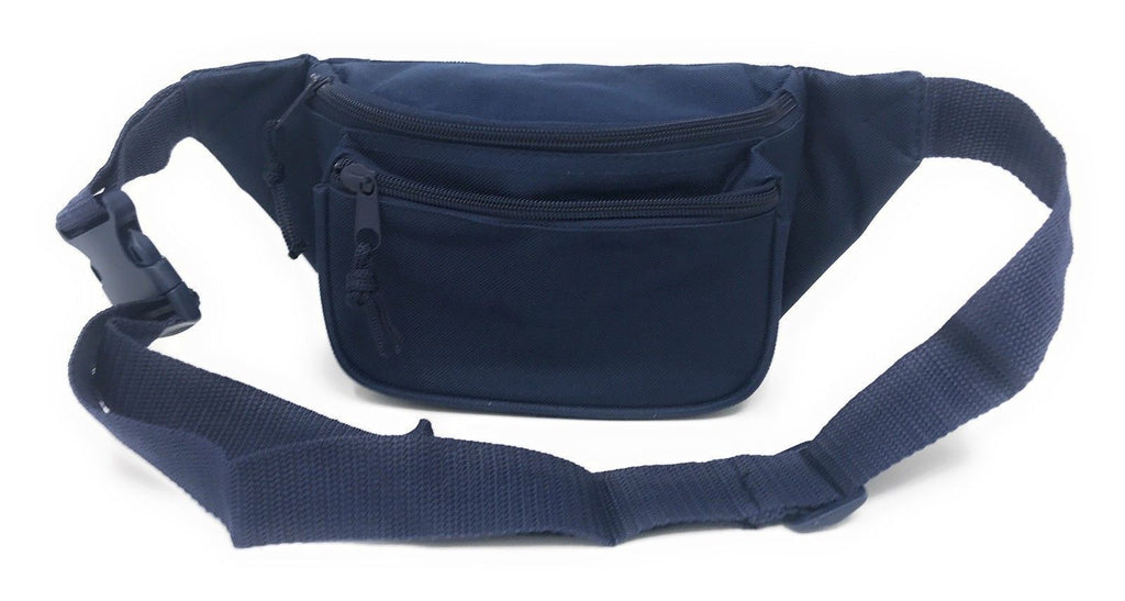 Fanny Pack Purse Travel Pouch Money Passport Id Zipper Waist Belt Bag 3 Pockets 48inch