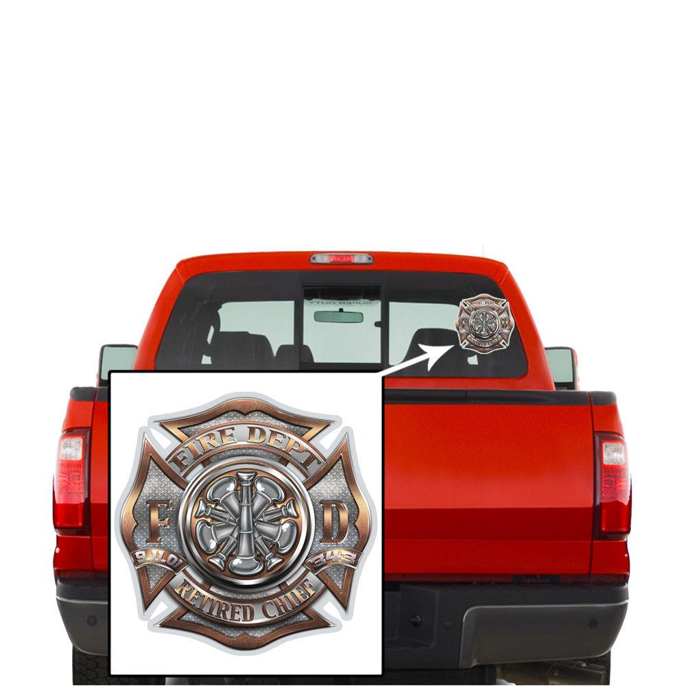 Fire Fighter Brotherhood Retired Chief Honor Service Sacrifice Decal Sticker