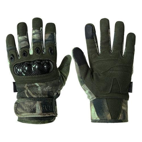 Hybricam Carbon Fiber Camouflage Hiking Fishing Hunting Gloves