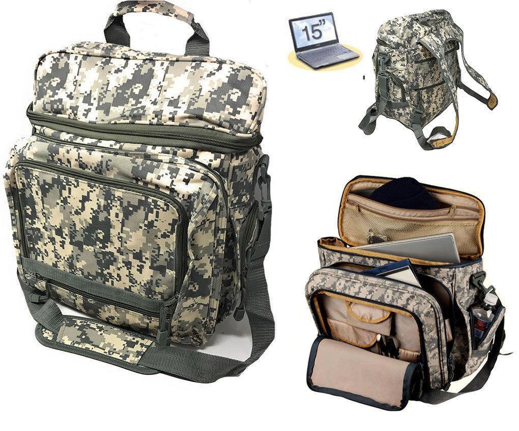 Laptop Computer Backpack Rucksack Bag Camouflage Army Military Luggage School 17inch