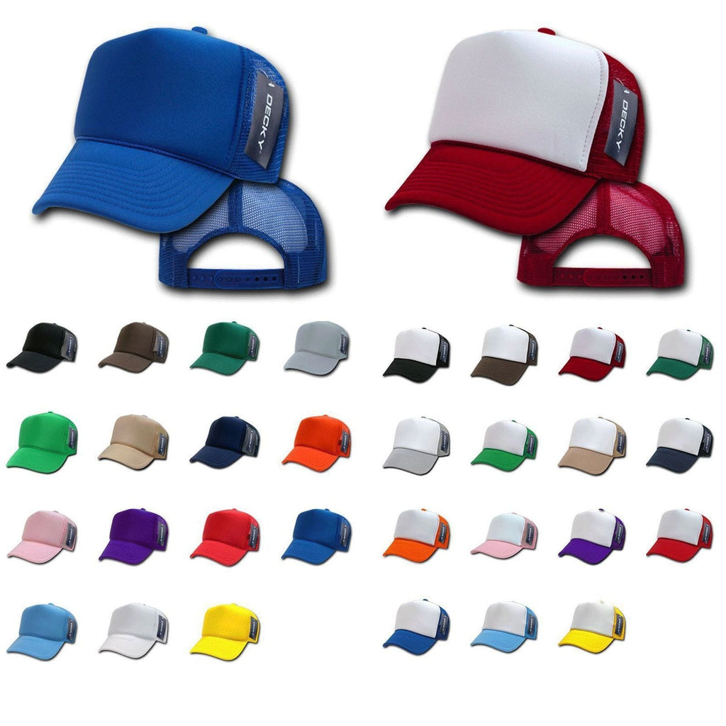 Lot Of 7 Lot Of 6 Decky New Classic Summer Trucker Has Caps Snapback Wholesale Bulk Lots!
