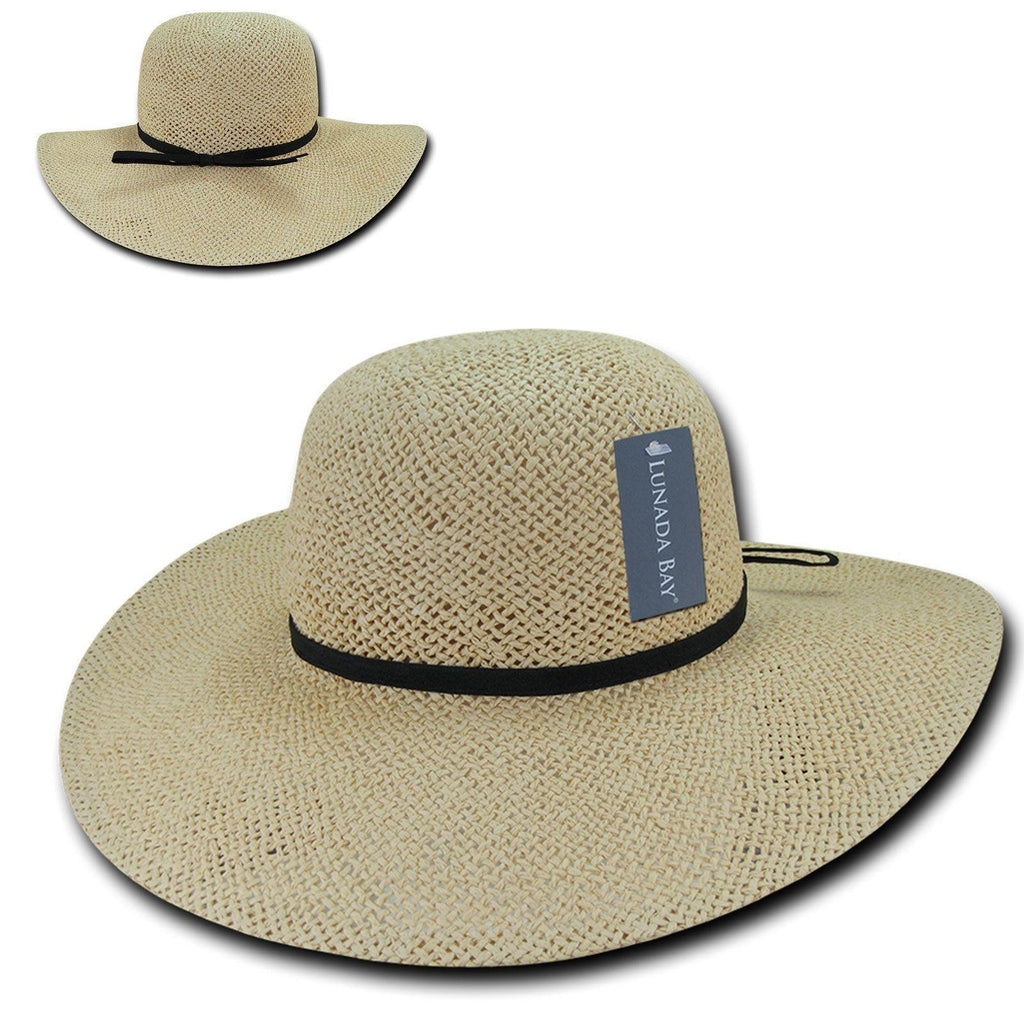 Lunada Bay Braid Sun Summer Beach Shade Paper Straw Women Hats Wide Brim