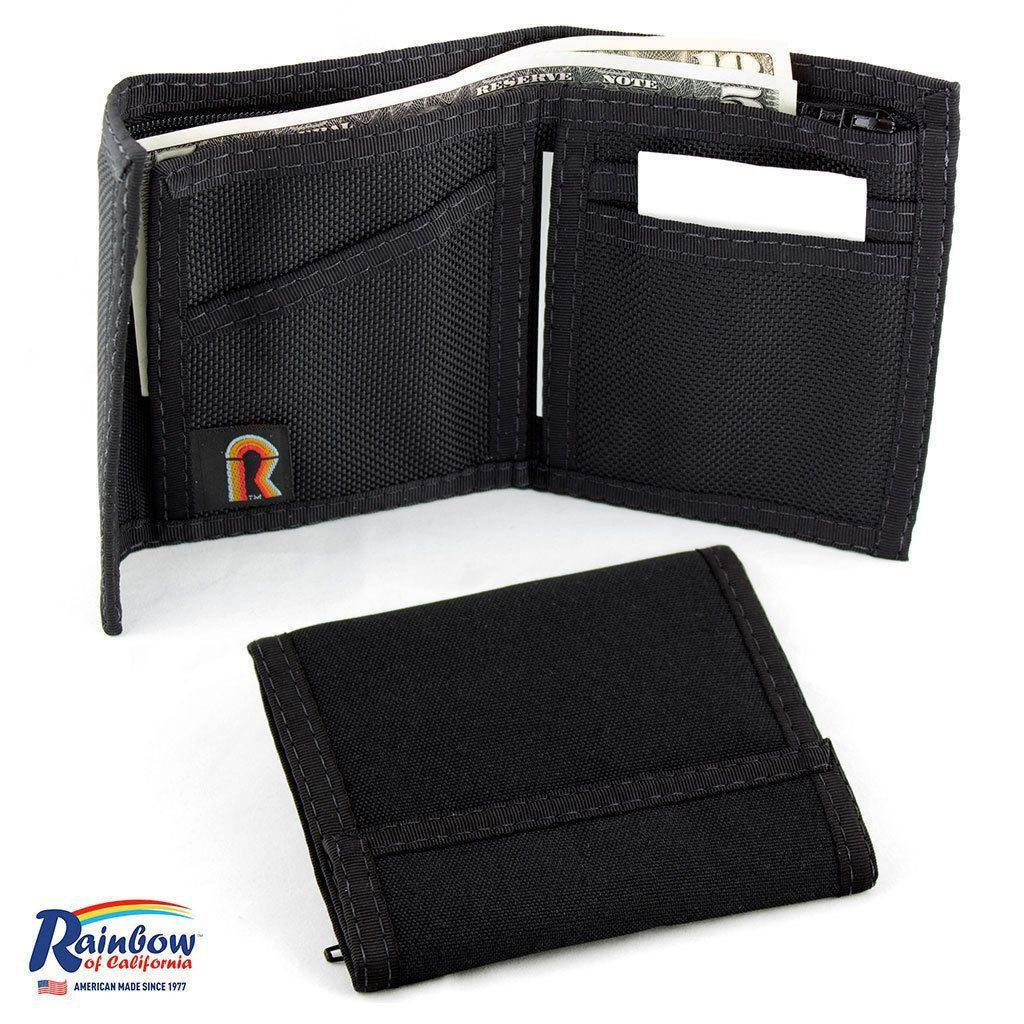 Made In USA Rainbow Of California Bifold Wallet Mens Water Resistant Washable