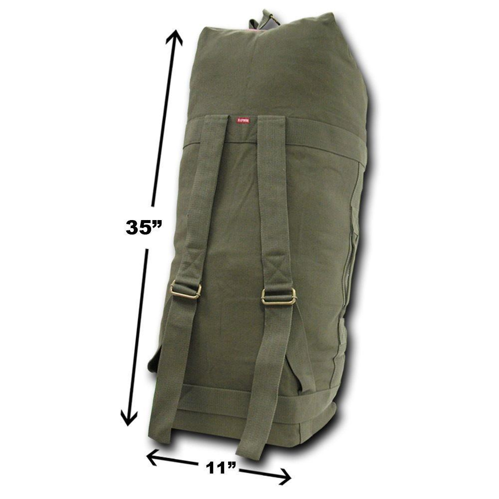 35inch Large Big Duffle Bags Backpack Rucksack Top Load Military Army  Camping Tactical Cotton Canvas