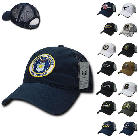 1b62057a8cf 1 Dozen 6 Panel Relaxed Trucker Cotton Military Low Crown Caps Hats  Wholesale Lots!!