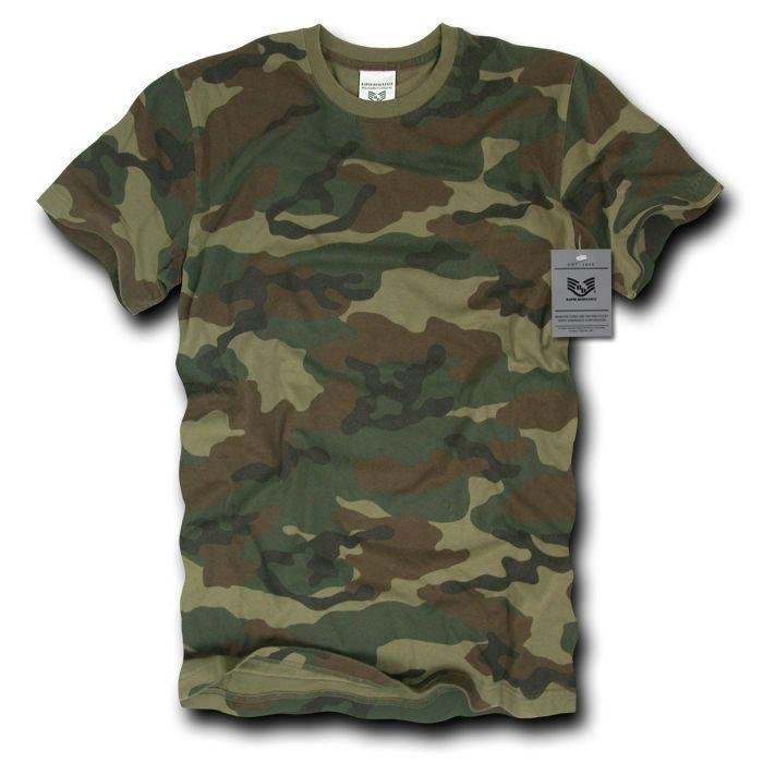 a7e5dc0768bfb Rapid Dominance Military Woodland Camouflage Army Hunting T-Shirts Tees