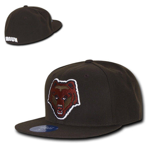 f864a36651a NCAA Brown Bears University Bears College Fitted Caps Hats Brown