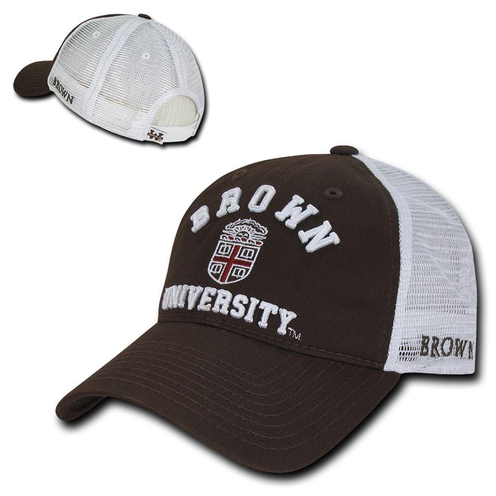 NCAA Brown Bears University Curved Bill Relaxed Mesh Trucker Caps Hats