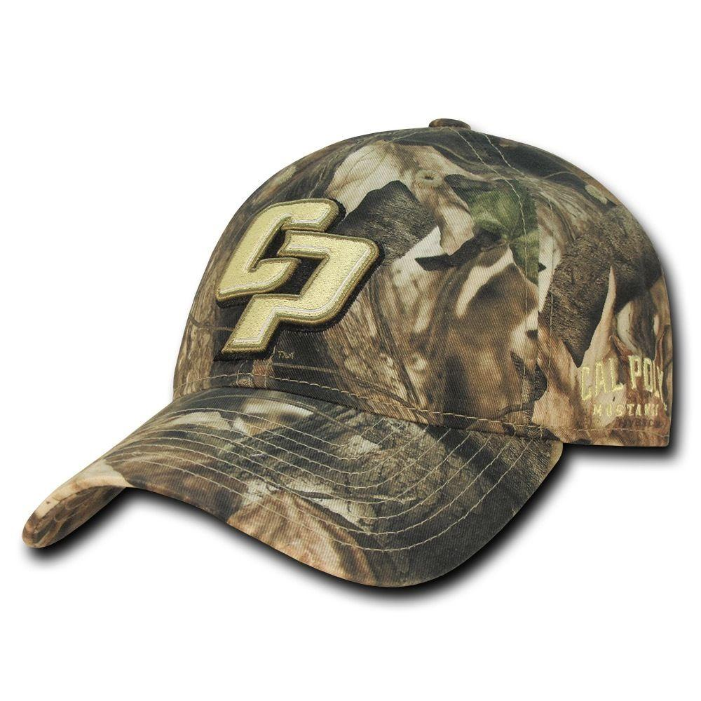 NCAA Cal Poly Mustangs University Relaxed Hybricam Camouflage Caps Hats