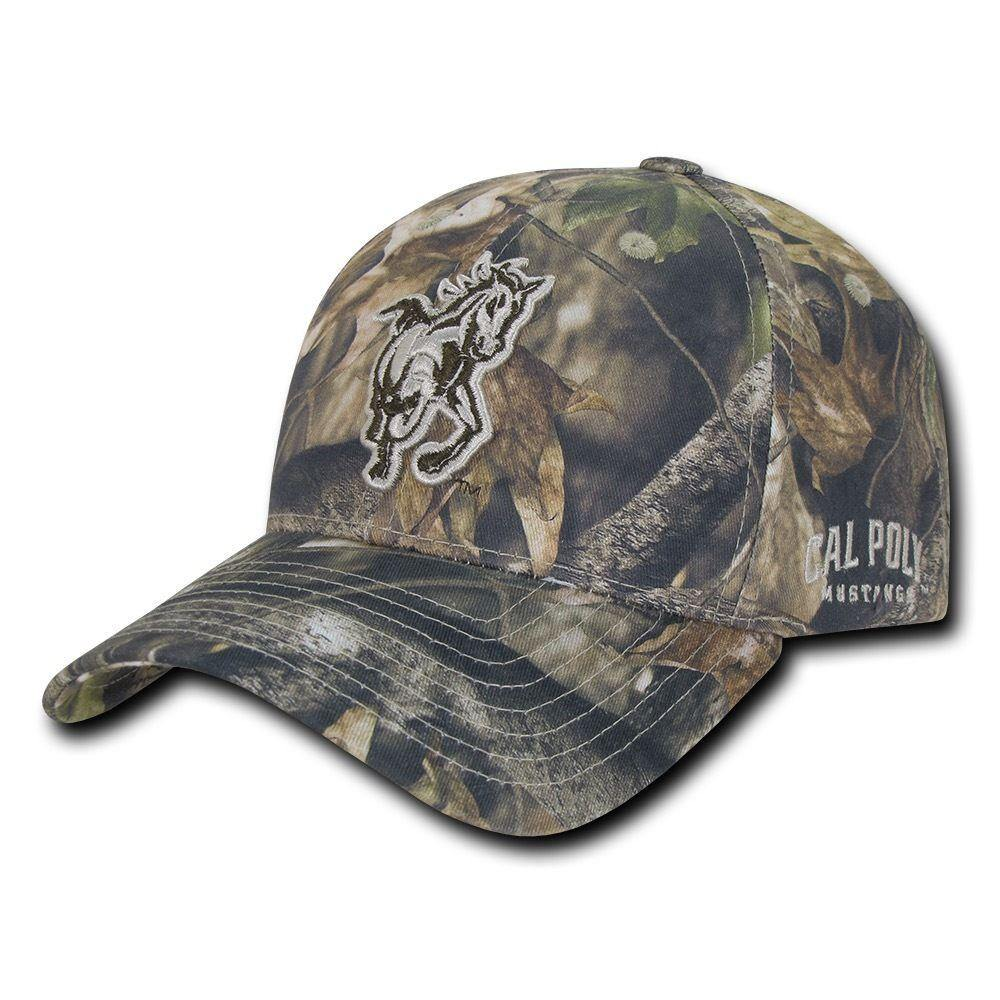 NCAA Cal Poly Mustangs University Structured Hybricam Camouflage Caps Hats Gbr