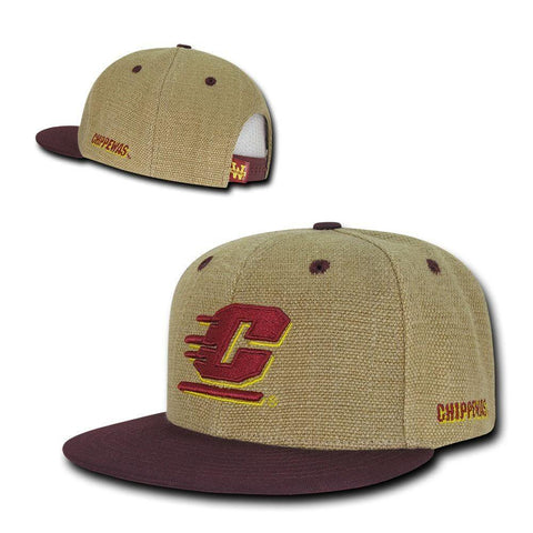 db5ca402e5a ... ncaa cmu central michigan chippewas university heavy jute snapback caps  hats 15f63 576a4 top quality central michigan flying c adidas flatbrim ...