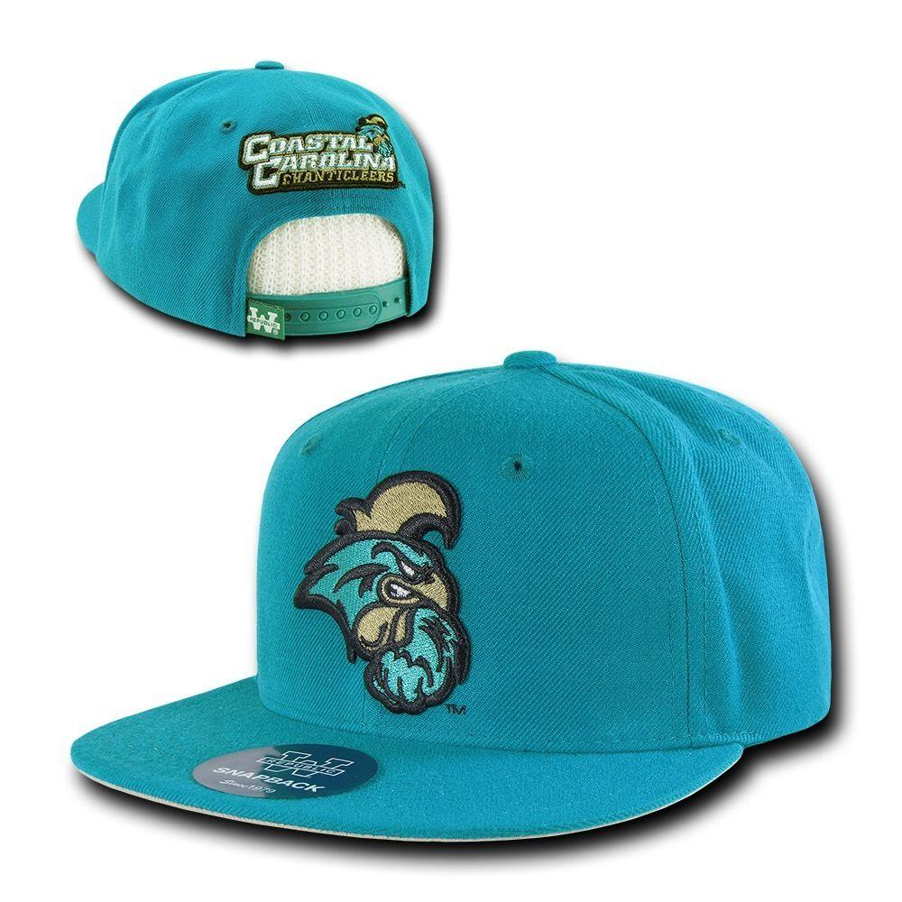 9182f6270bbfc NCAA Coastal Carolina Chanticleers University Snapback Baseball Caps Hats  Teal