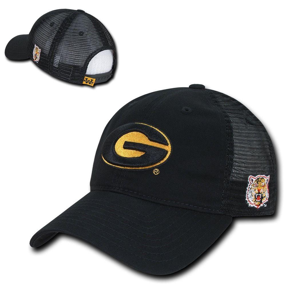 NCAA Grambling State Tigers U Curved Bill Relaxed Trucker Mesh Caps Hats