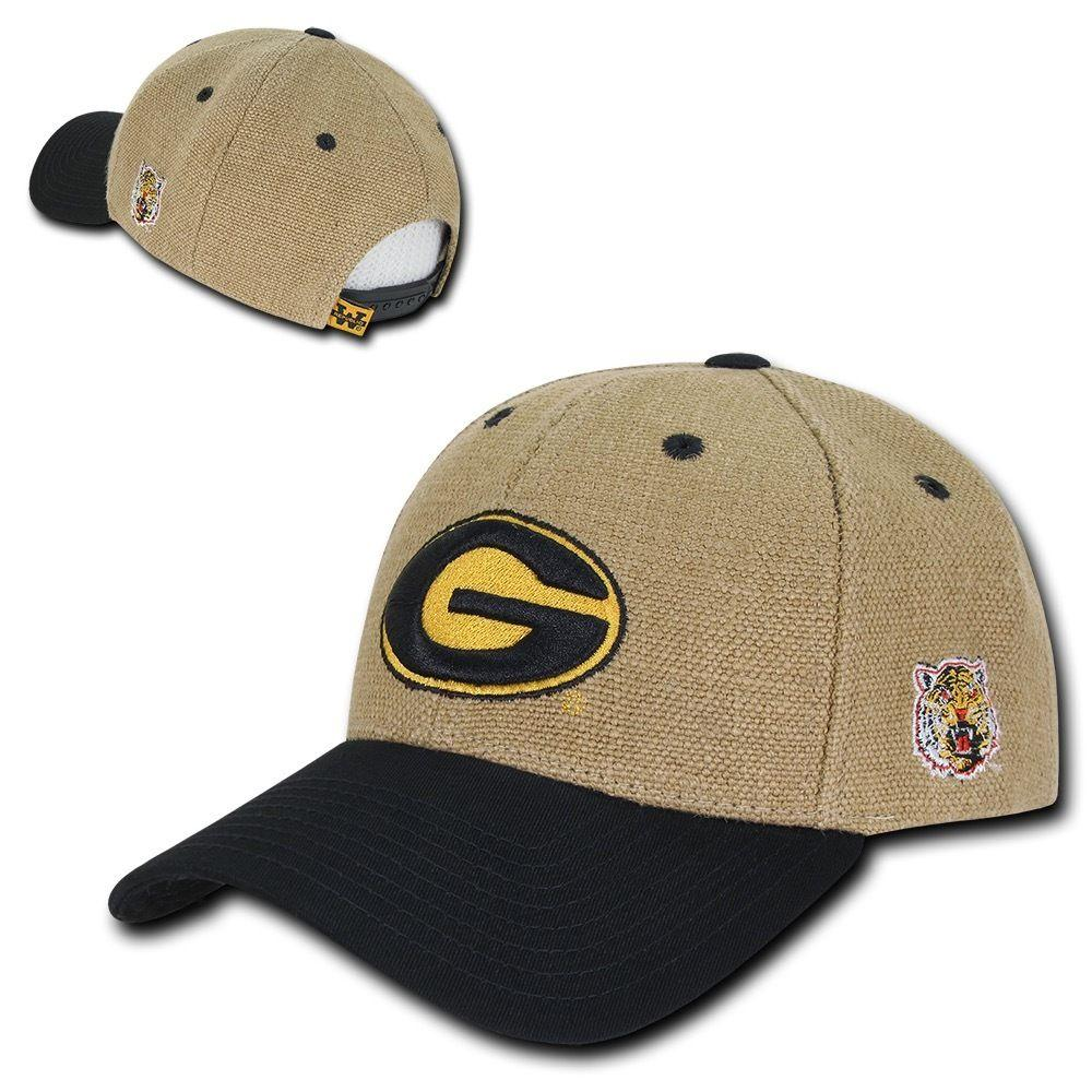 NCAA Grambling State Tigers University Low Constructed Structured Jute Caps Hats
