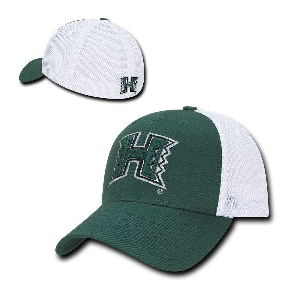 NCAA Hawaii University Rainbow Warriors Structured Mesh Flex Baseball Caps Hats
