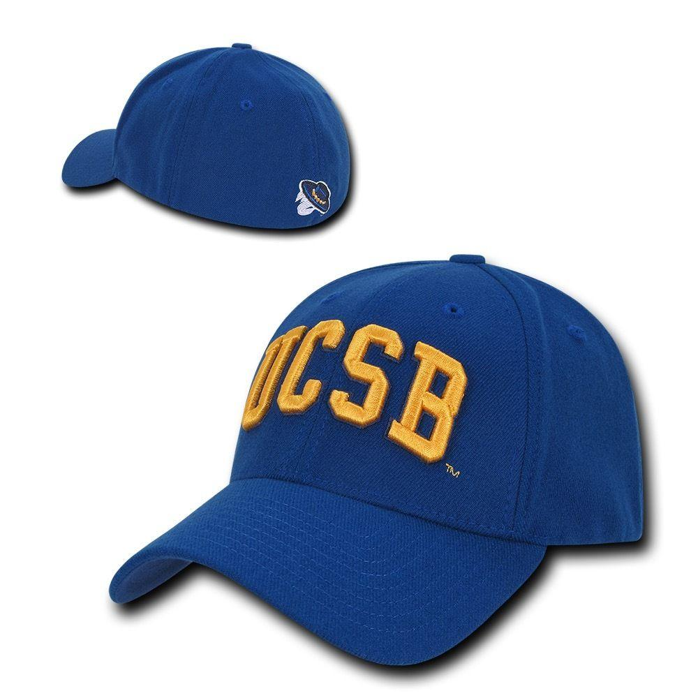 NCAA Ucsb University Of Cal Santa Barbara Low Constructed Flex Acrylic Caps Hat