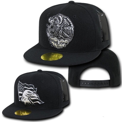 1a477a2f2d3 Nothing Nowhere USA Mexico Eagle Flat Bill 6 Panel Baseball Snapback Hats  Caps!