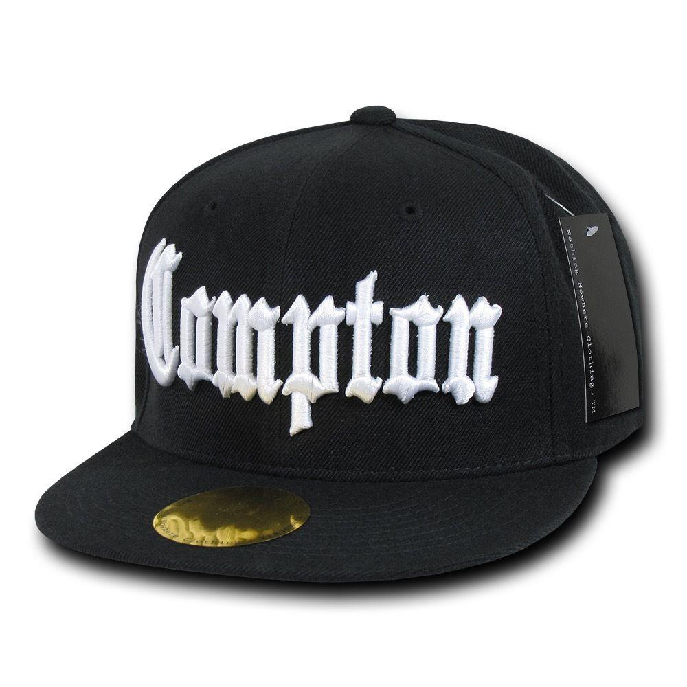 Old English City Logo Campton Inglewood La Snapback Flat Bill Baseball Caps Hats