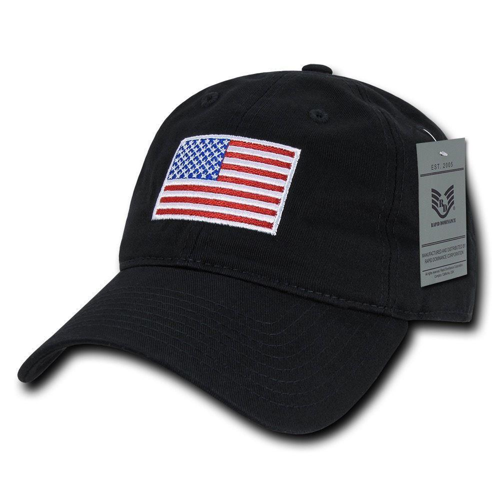 549839698b2 Patriotic USA American Flag Embroidered Relaxed Polo Baseball Dad Caps Hats
