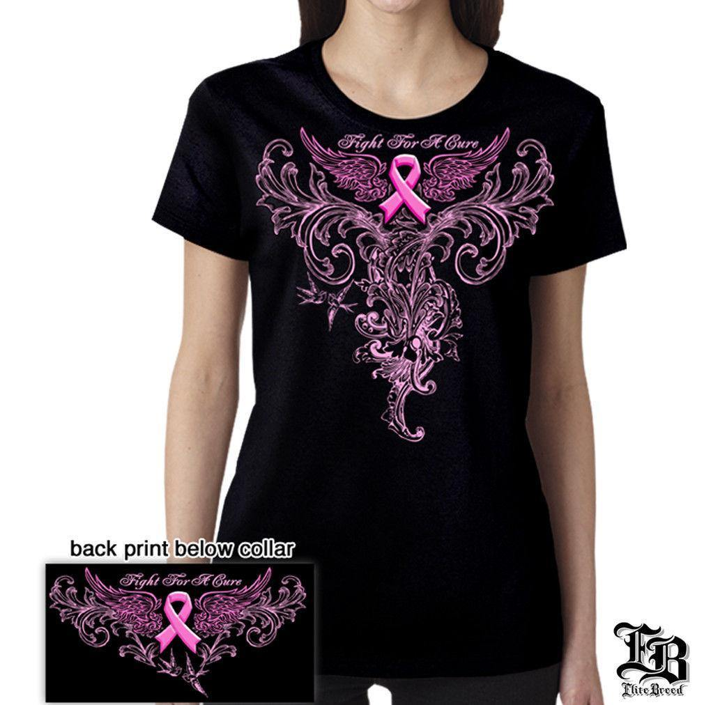 Pink Foil Fight For A Cure Breast Cancer Awareness Pink Ribbon T