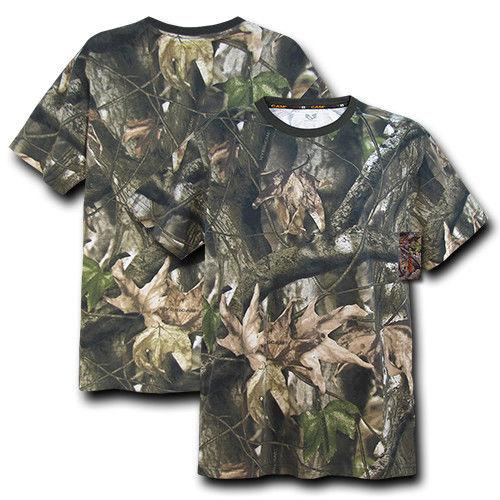 Rapid Hybricam Cotton Grey Bark Classic Fit Camouflage T-Shirt Tees