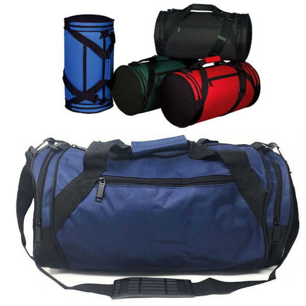 786bdca0a Roll Round 18 Inch Duffle Bags Two Tone Travel Sports Gym Carry-On Lug –  Casaba Shop