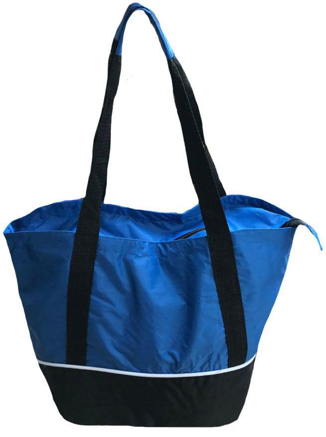 Large Big 18 x14inch Reusable Grocery Shopping Tote Bags Zippered Gym Sports School
