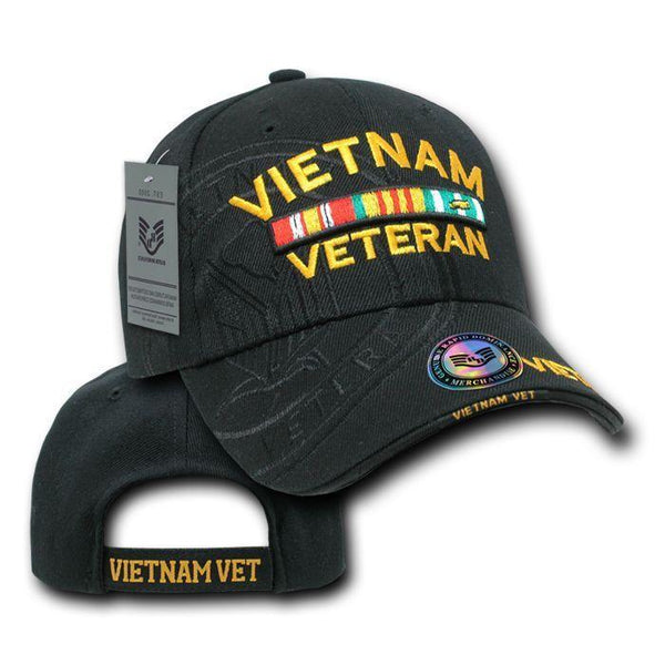 Shadow Effect Embroidery US Military Vet Army Air Force Navy Marines Hats  Caps