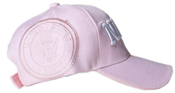 US Honor Embroidered Navy Veteran Pink Baseball Caps Hats