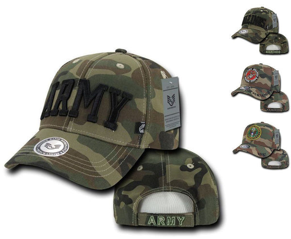 016b7829e Rapid Dominance US Military Marines Army Camouflage Embroidery Baseball  Caps Hats